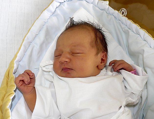 TEREZA LOSKOTOVÁ Z TÁBORA. Narodila se 5. srpna ve 3.48 hodin. Její váha byla 3420 g, měřila 48 cm a doma na ni čekají tří bráškové.