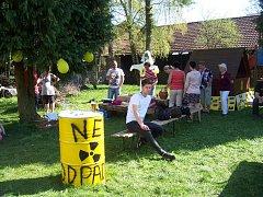 V Makově na Jistebnicku se už počtvrté setkali odpůrci úložiště jaderného odpadu.