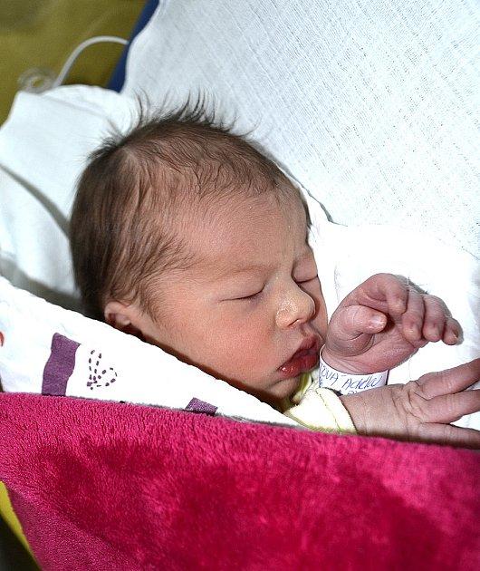 Adéla Buchtová z Tábora. Přišla na svět 6. prosince ve 3.50 hodin jako druhá dcera v rodině. Její váha byla 2760 gramů, míra 46 cm a sestřičce Zuzance budou zanedlouho tři roky.
