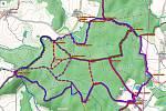 Běžkařské trasy na Táborsku.