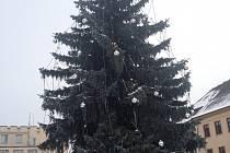 Vánoční strom v Táboře.