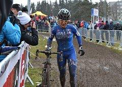 Z táborského mistrovství světa v cyklokrosu.