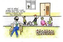 Další kreslené vtipy s aktuální tématikou vznikly v Táboře.