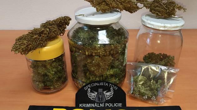Policisté zadrželi počátkem týdne dealera marihuany.