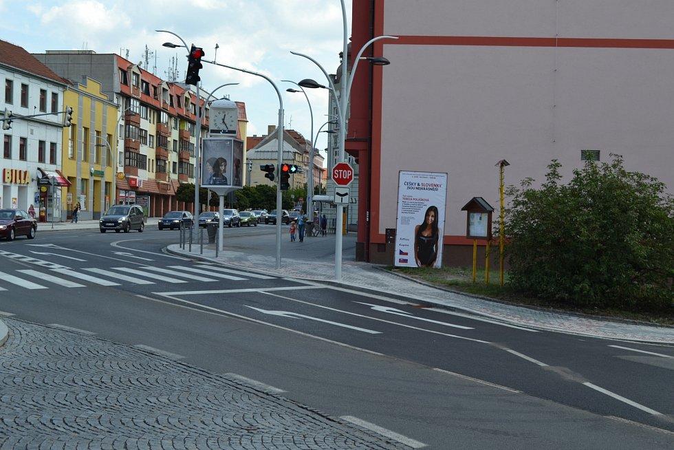 Opravená křižovatka na Křižíkově náměstí.