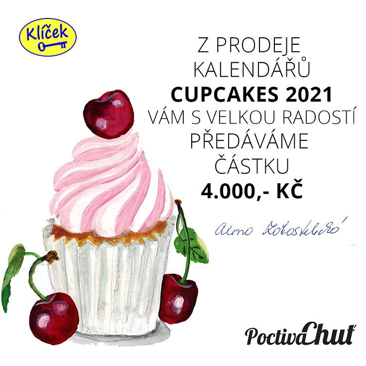 Do propagace, prodeje a distribuce kalendáře táborské firmy Poctivá chuť se zapojil i táborský Klíček. Z výtěžku připadly čtyři tisíce korun.
