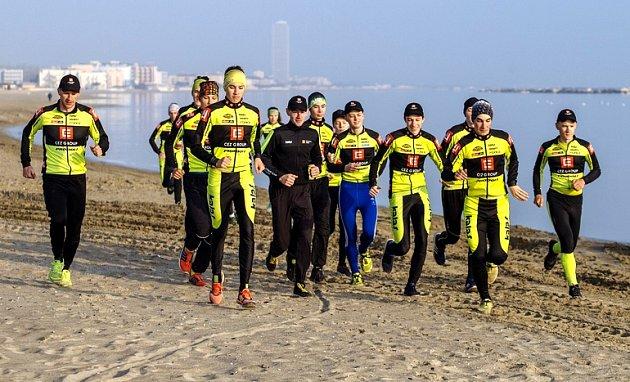 ČEZ Cyklo Team Tábor na soustředění v Itálii.