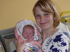 JANA ŽÍLOVÁ Z HLASIVA. Narodila se šťastné mamince 3. dubna ve 4.08 hodin. Po narození malá Janička vážila 3130 g a měřila 49 cm.