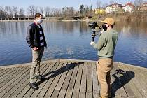 Martin Šonka s kameramanem Romanem Cintlem.