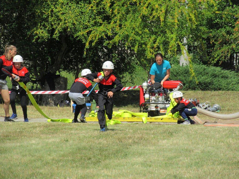 Na hasičském hřišti o pohár SDH Rybova Lhota se utkalo pět družstev z Táborska.