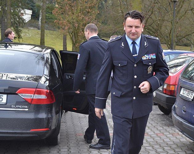 Policejní prezident Tomáš Tuhý přijel do Sezimova Ústí.