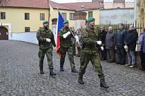 Uctění Dne veteránů v Bechyni.