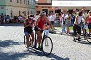 V Bechyni se v sobotu konal 45. ročník závodů koloběžek.