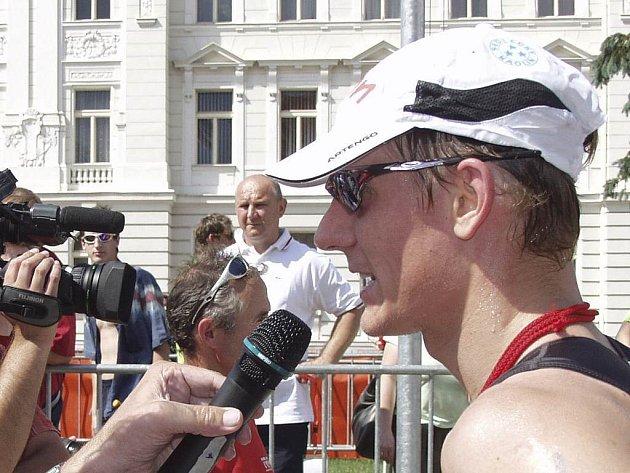 Martin Pejsar z E–ON Triathlon Teamu se zájmu médií na letošním mistrovství Evropy v dánské Kodani těšit nebude.