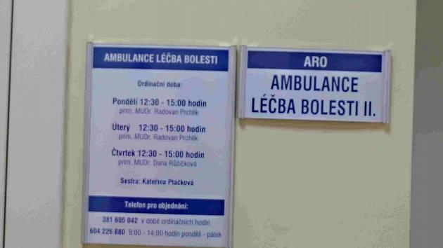Provoz ambulance v táborské nemocnici.