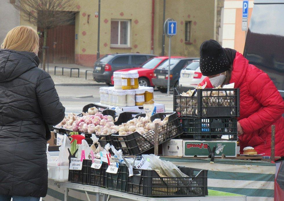 Trhy v Soběslavi 14. dubna 2021.
