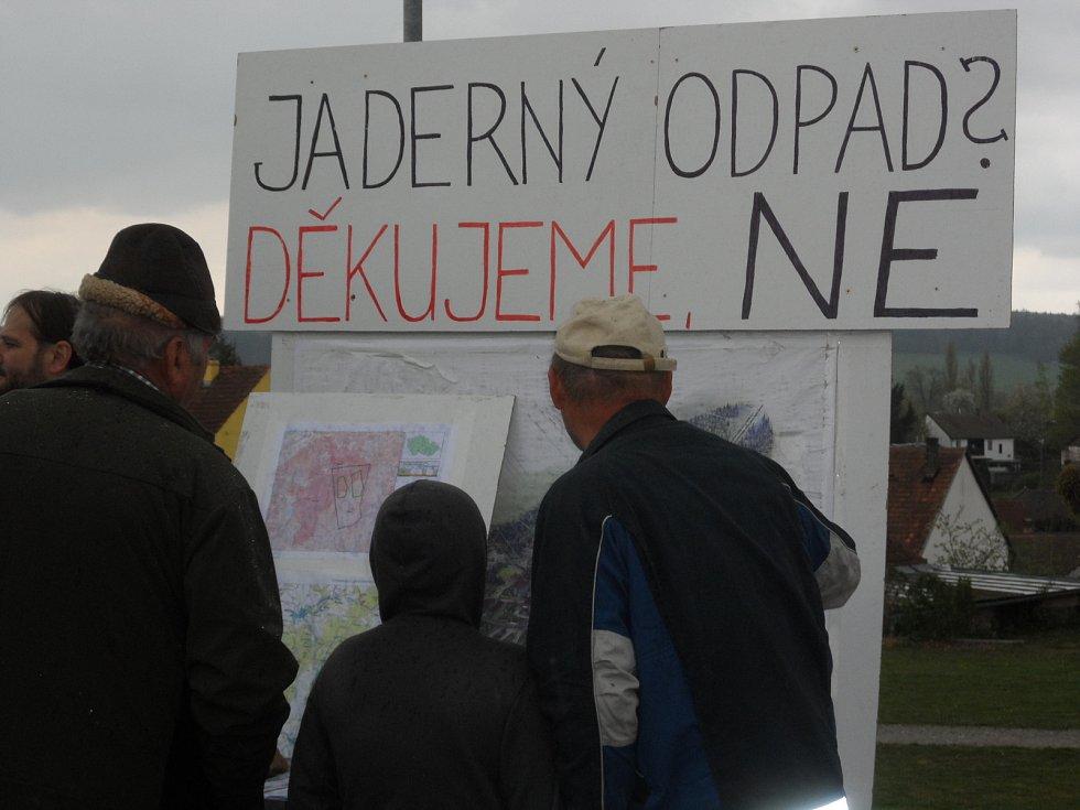 Dny proti úložišti na Jistebnicku a Jindřichohradecku v předchozích letech.