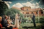 Svatba na zámku v Bechyni.