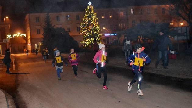Silvestrovský běh ulicemi města Soběslavi.