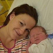 Tobiáš Purman z Větrov. Narodil se jako druhé dítě v rodině6. prosince v 6.48 hodin. Vážil 4050 gramů a doma má téměř tříletou sestřičku Sofinku.