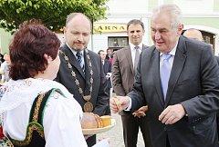 Prezident Miloš Zeman navštívil 1. června Veselí nad Lužnicí
