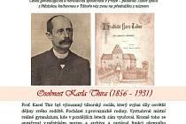 Plakát přednášky Osobnost Karla Thira.