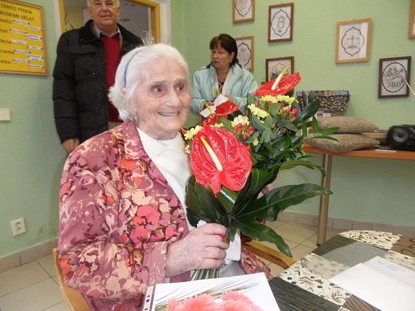 Marie Holubová oslavila 100let.