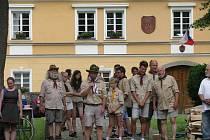 Zahájení výstavy 100 let skautingu v Bechyni se uskutečnilo v neděli 5. července.