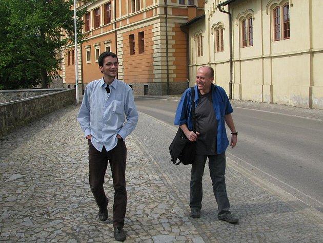 Michal Tabor a jeho spolužák Karel Světnička