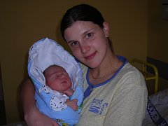 KRYŠTOF BUBNÍK Z HEŘMANIČEK. Narodil se jako druhý syn v rodině 12. března v 5.17 hodin. Navážili mu 3490 g a naměřili 49 cm.