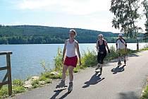 Cyklo-inline stezka mezi Lipnem nad Vltavou a Frymburkem.