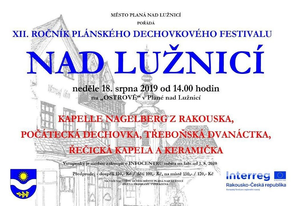 Kulturní víkend Planá nad Lužnicí.