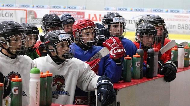 Z tréninku mladších dorostenců HC Tábor.