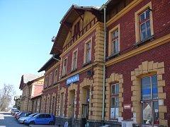 Vlakové nádraží ve Veselí nad Lužnicí.