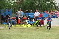 O pohár obce Rybova Lhota v sobotu 15. června bojovalo 17 družstvem mladých hasičů.