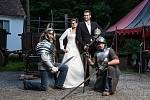 Svatba na Housově mlýně v Táboře.