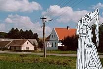 V Dolních Hrachovicích v březovém hájku se prý zjevovala bílá paní. I když nikdy nikomu  neublížila, lidé se jí báli a raději se onomu místu vyhýbali.