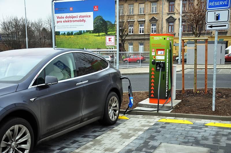 Dobíjecí stanice pro elektromobily. Ilustrační foto.