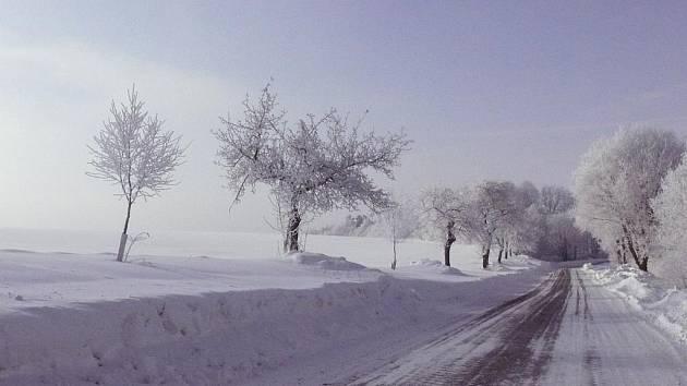 Pole pod sněhem. Ilustrační foto.