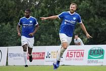 útočníci Zbyněk Musiol a Daniel Martins Mpondo Toutou zatím soupeře v České fotbalové lize nešetří.