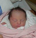 Mia Frýbortová z Tábora. Poprvé na svět pohlédla 26. červnaminutu po půl deváté. Prvorozená dcera rodičů Olgy a Dominikapo porodu vážila 2840 gramů.