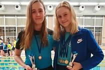 Táborské medailistky z Litoměřického kalichu Aneta Kakosová a Linda Čeňková (zleva).