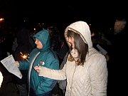 Atmosféru v Soběslavi navozovaly i zapálené prskavky.