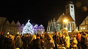 Rozsvěcení vánočního stromu v Táboře