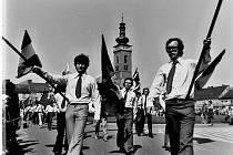 První máj 1973 v Soběslavi.