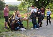 Studenti Gymnázia Soběslav pořádali vkempu u Lužnice tradiční hudební festival Gymplfest.