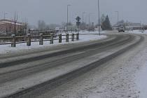 Zima na táborských silnicích.