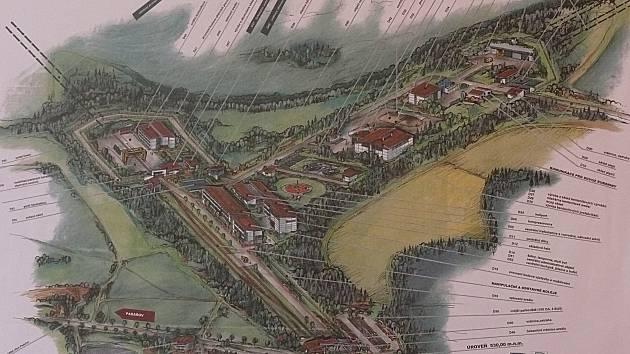 Návrh nadzemních staveb hlubinného úložiště.