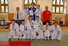 Táborští medailisté z domácího turnaje.