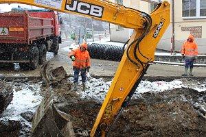Rekonstrukce kanalizace v Husově ulici